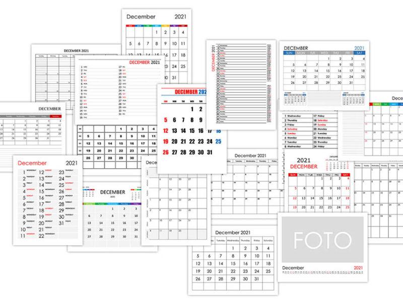 Calendar for December 2021