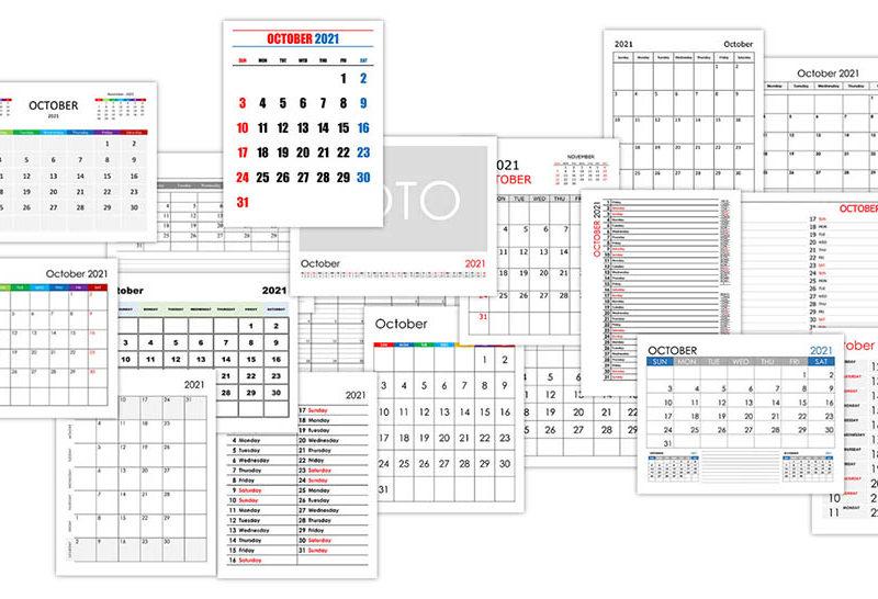 Calendar for October 2021