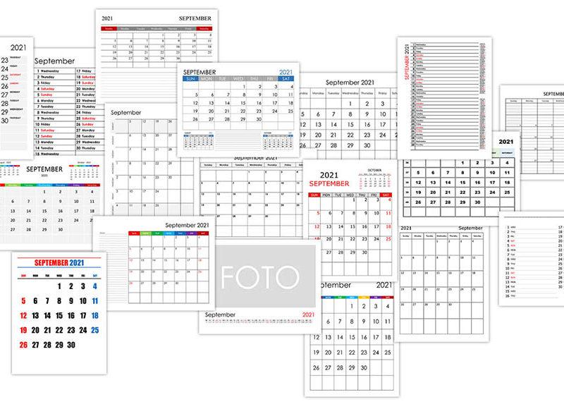 Calendar for September 2021