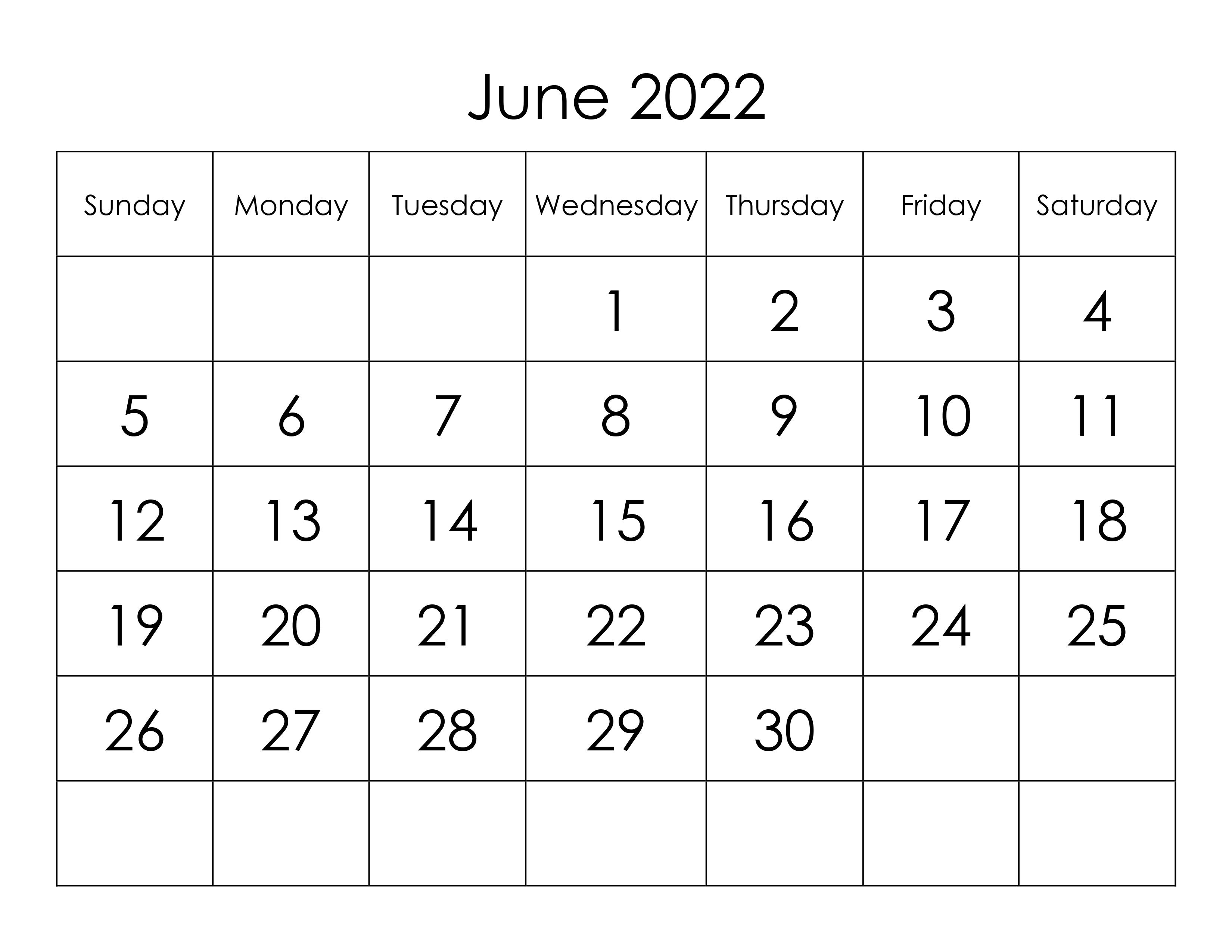 Calendar 2022 June.Calendar For June 2022 Free Calendar Su