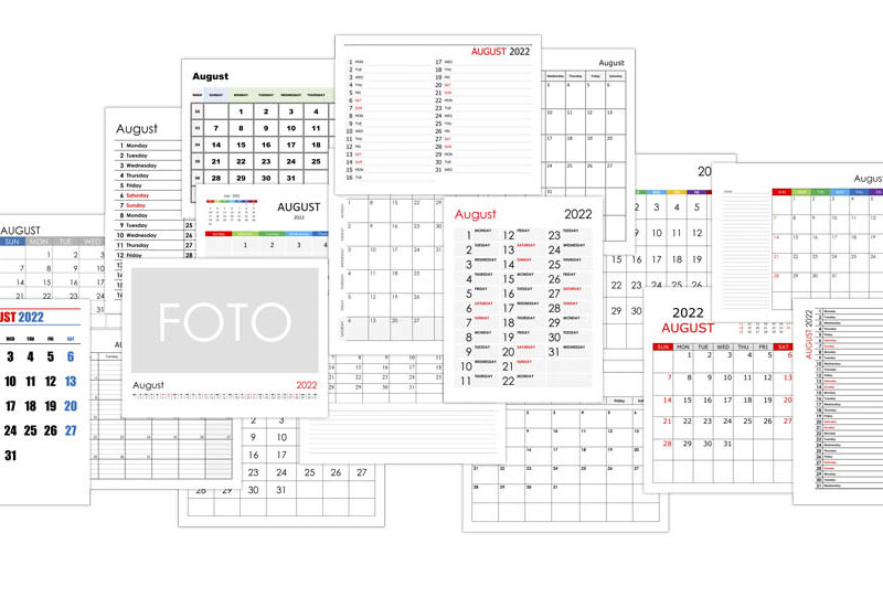 Calendar for August 2022