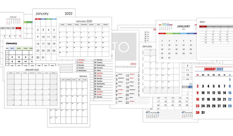 Calendar for January 2022