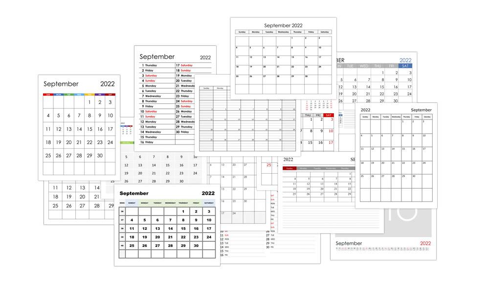 Calendar for September 2022