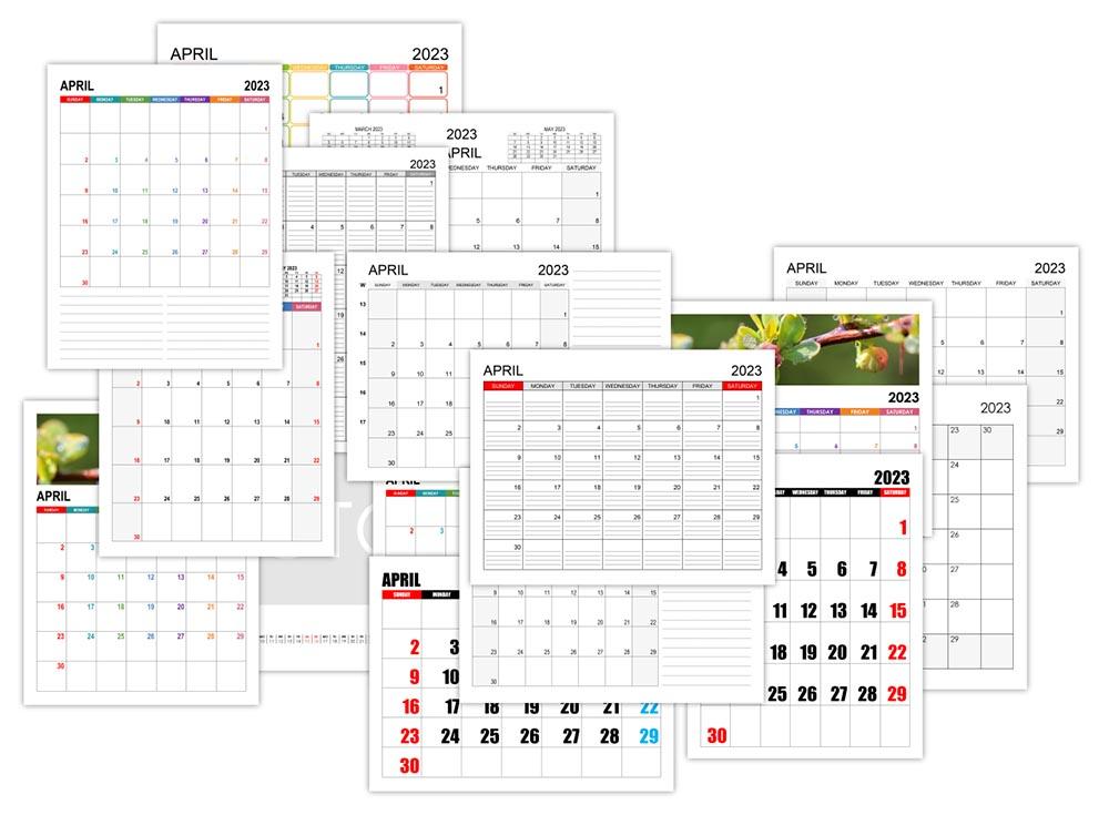 Calendar for April 2023
