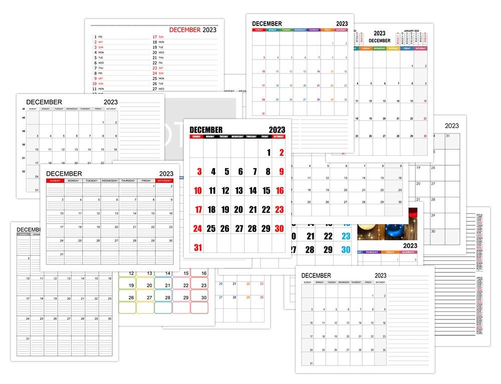 Calendar for December 2023