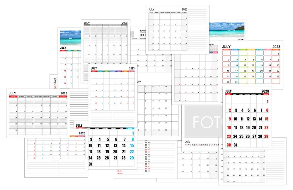 Calendar for July 2023
