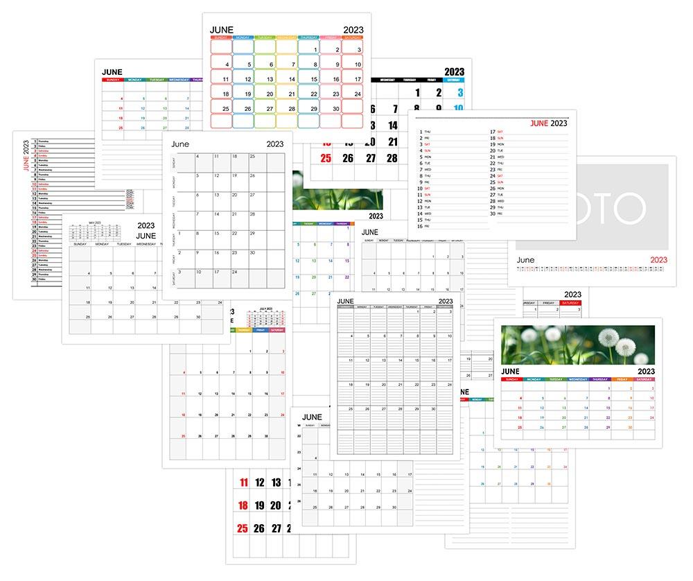 Calendar for June 2023