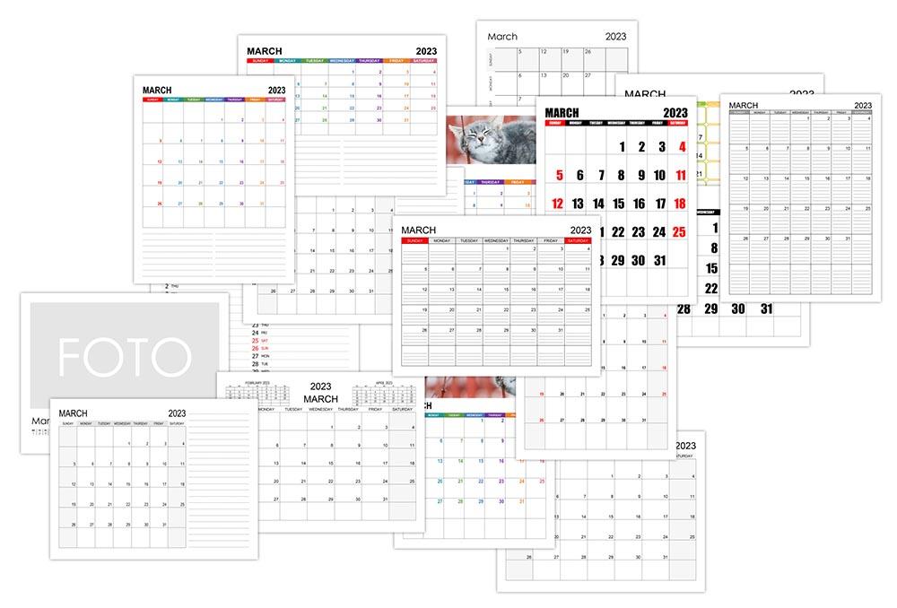 Calendar for March 2023