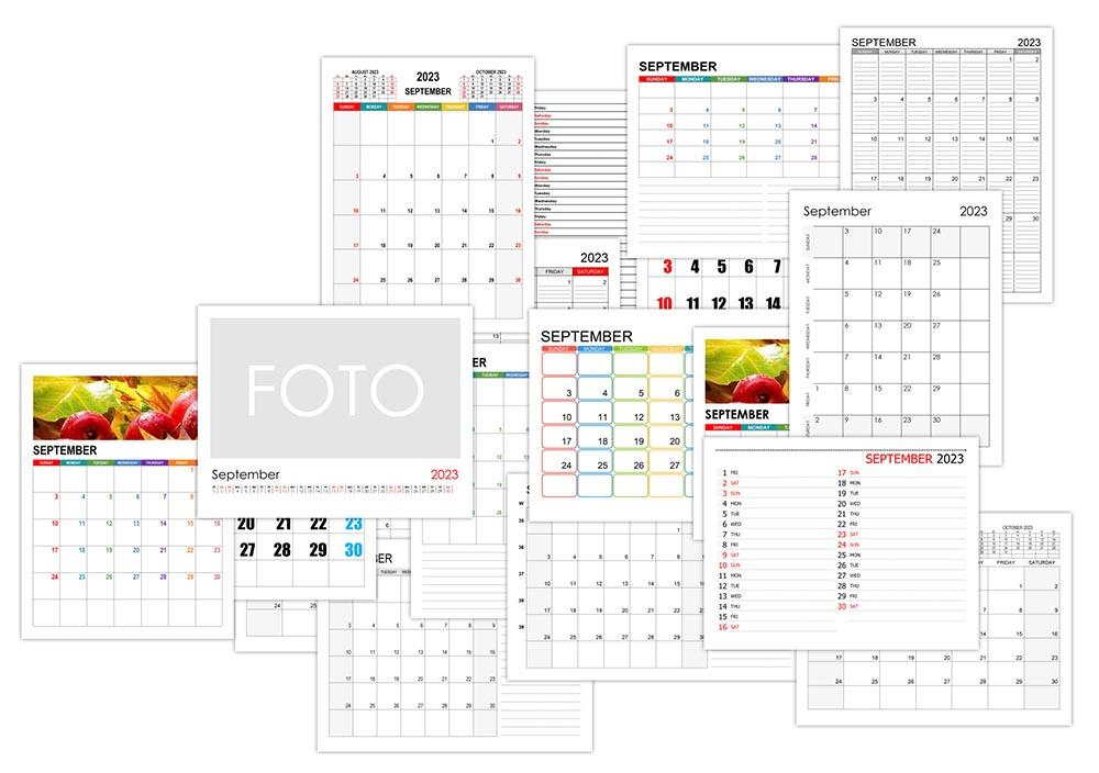 Calendar for September 2023