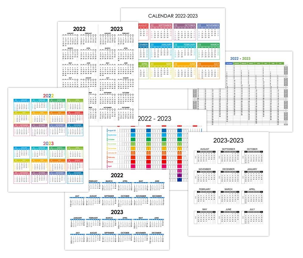 Yearly calendar 2022-2023
